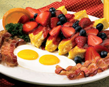 Three Berry Stuffed French Toast Breakfast