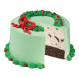 Evergreen Christmas Wreath Cake