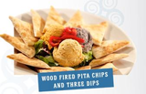 Wood Fired Pita Chips And Three Dips
