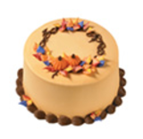Colors Of Fall Wreath Cake