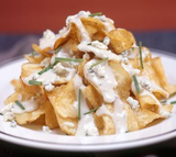 Mountain Of Homemade Bleu Cheese Potato Chips