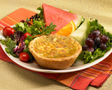Crab, Sweet Corn & Asparagus Quiche