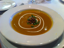 Spiced Sweet Potato Soup With Black Vinegar Greek Yogurt