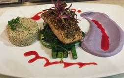 Pistachio Crusted Seared Salmon